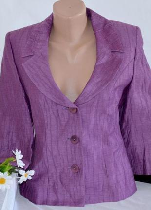 Брендовый легкий тонкий пиджак жакет блейзер alex&co лён этикетка