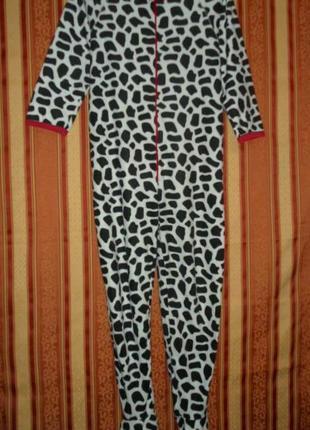 Пижама комбинезон слип флисовый размер м