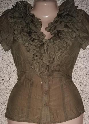 Шелковая блузка  италия silk cotton
