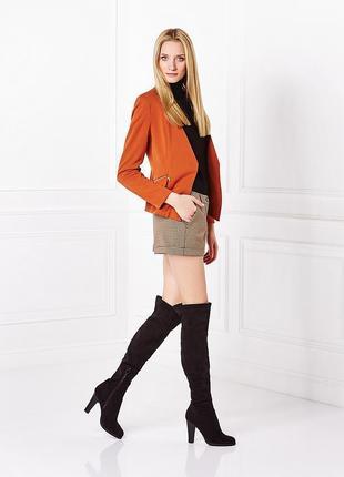 Брендовый коричневый пиджак жакет блейзер с карманами mohito польша этикетка