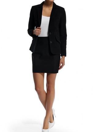 Брендовый черный коттоновый пиджак жакет с карманами mango марокко этикетка
