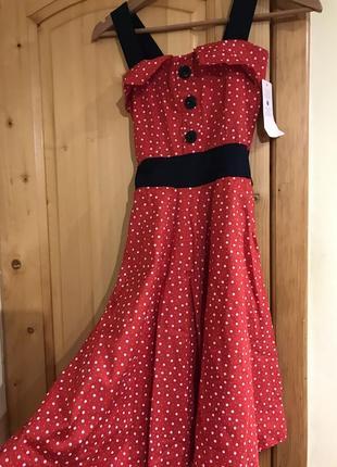 Нежное платье(платьице). платье в горошек