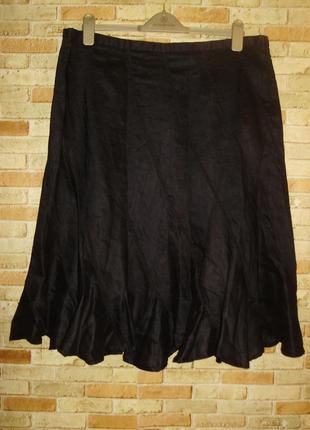 Красивая глянцевый блеск натуральная юбка клинка 18/52-54 размера