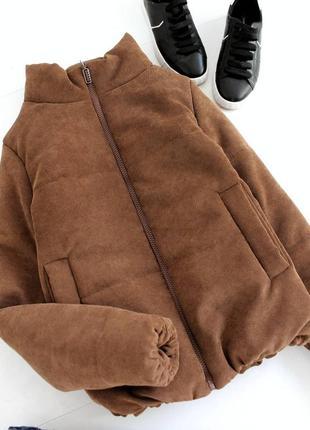 Куртка на весну дутая вельветовая демисезонная весняна курточка