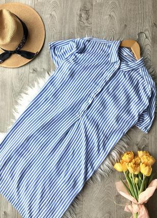 Плаття рубашка в полоску від h&m