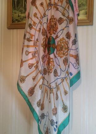 Винтажный шелковый платочек , ручная работа,laurie samson