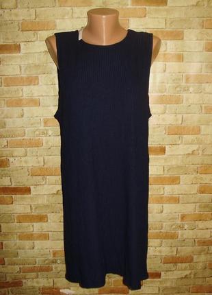 Новое стрейч платье в рубчик размера m-l