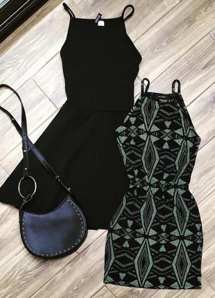 Платье на бретельках фактурное