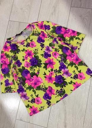 Фактурная блуза в цветочный принт new look