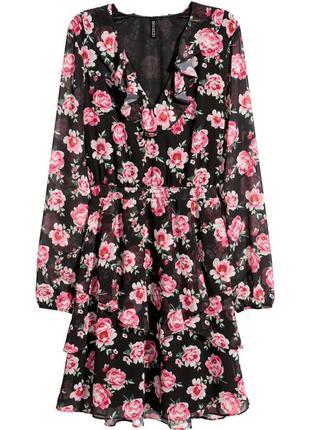 Шифоновое платье чайное платье платье в цветочек