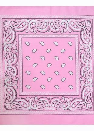 Бандана розовая косынка в наличии