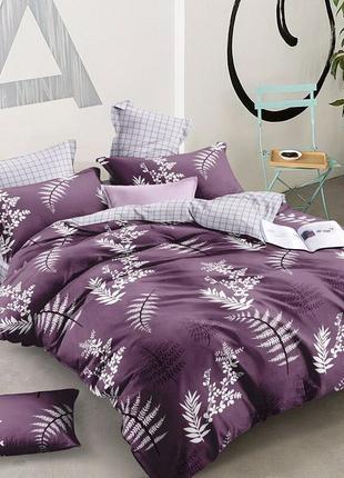 Хлопковое постельное белье гламурный виолет в подарочной упаковке