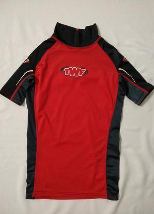 Кофта для купания twf р.128-134 на 8-9лет, футболка для плавания унисекс