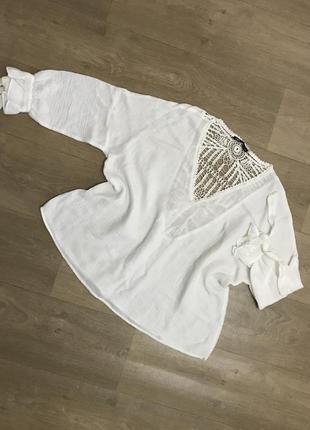 Невероятно красивая блуза zara, оверсайз