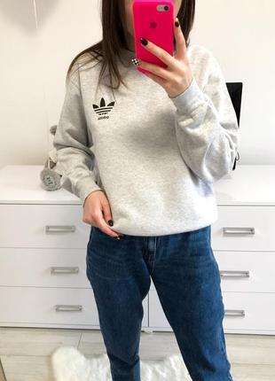 Стильная кофта худи свитшот оверсайз размер с-м adidas