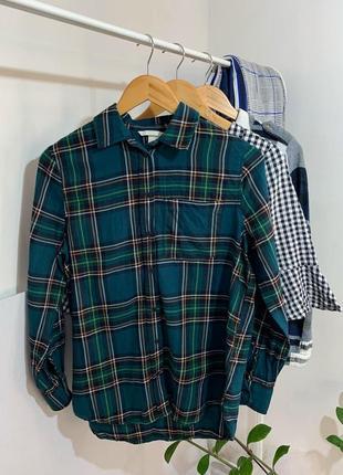Зелена рубашка в клітинку розмір м