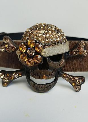 Пират череп, ремень пиратский, пираты карибского моря.