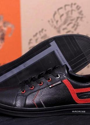 Мужские кожаные кроссовки x8 black