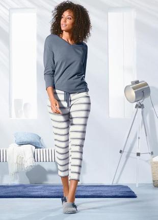 Мягкие и уютные брюки 7-8 для дома и отдыха xs 32-34 tchibo, германия