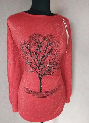 Классный свитерок с люрексом