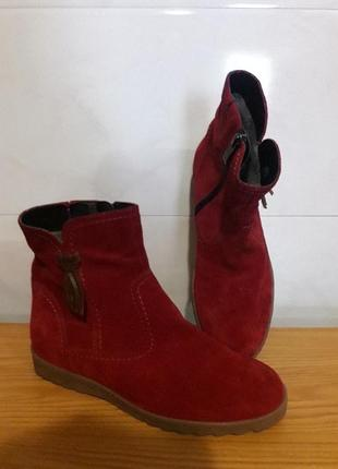 Ботинки замшевые. германия,,caprice,,оригинал