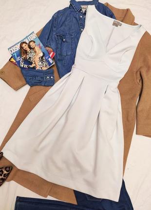 Платье миди мятное белое плотное классическое асос asos