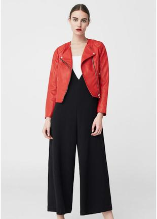 Куртка косуха mango красная1 фото