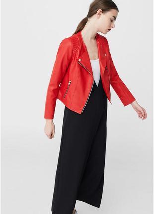Куртка косуха mango красная6 фото