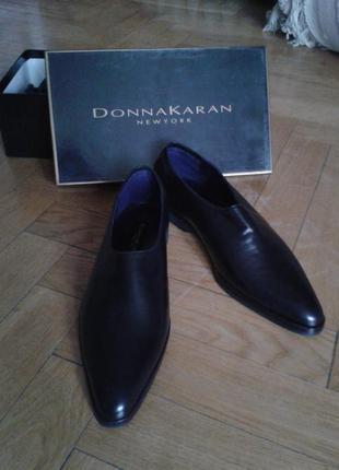 Лоферы, туфли, кожаные, donna karan, оригинал