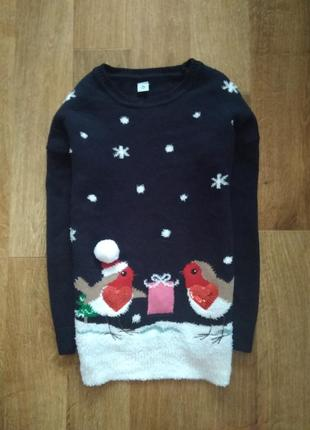 Музыкальный новогодний свитер рождественский