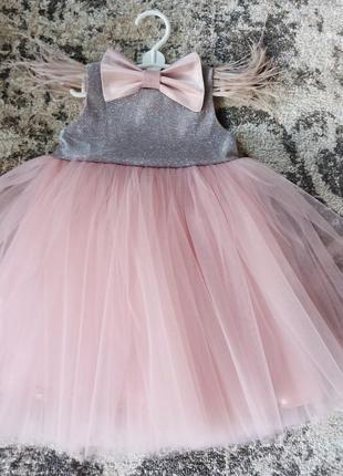 Нарядное нежное платье