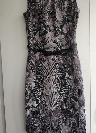 Платье змеиный принт
