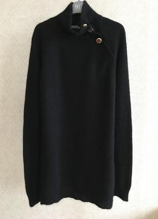 Черный свитер с высоким горлом liu jo