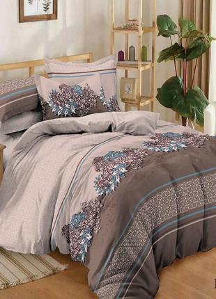Сатиновое постельное белье гламур с 4 наволочками в подарочной упаковке
