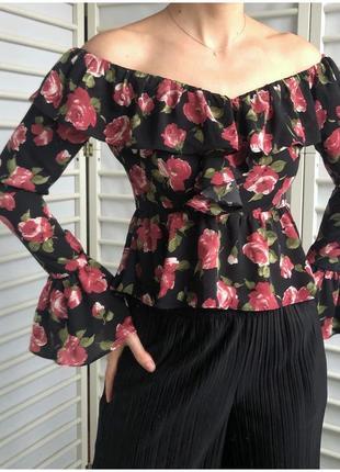 Блуза в квіти  my love від boohoo