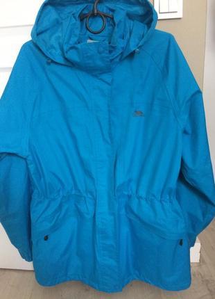 Trespass мембранная треккинговая водо и ветрозащитная куртка парка, насыщенно голубая р. м