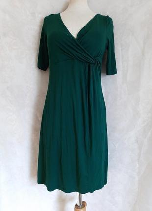Вискозное зелёное платье, м.