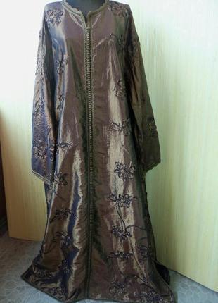 Марокканское длинное платье кафтан/ платье оверсайз / абая / галабея