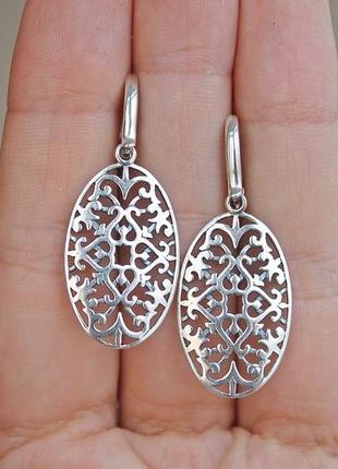 Серебряные серьги алжир