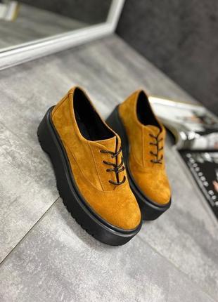 Качественные натуральные женские брогги туфли