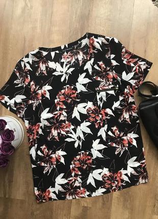 Шифоновая блузка футболка большого размера