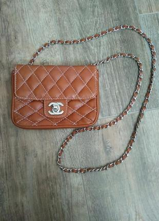 Chanel bag mini flap мини клатч шанель кожа