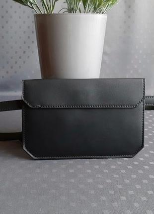 Красивая черная новая напоясная сумка фирмы asos