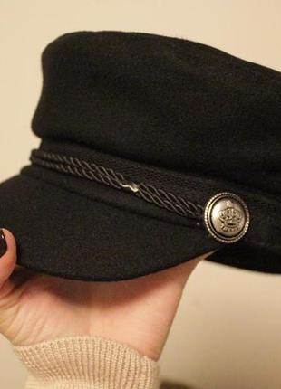 Новая модная кеппи (фуражка, кепка, газетка), черная