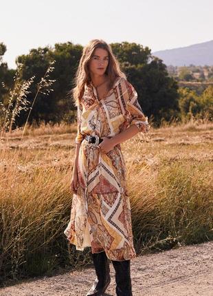 Mango шифонова сукня в принт ,s, m