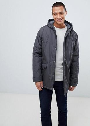 Мужская куртка threadbare оригинал весенняя зимняя c капюшоном серая л l
