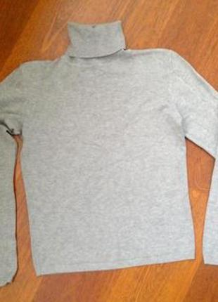 Гольф свитер серый2
