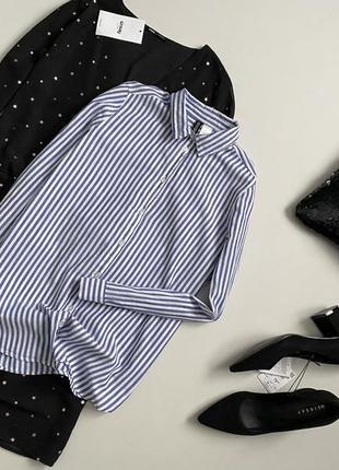 Актуальная рубашка в полоску h&m