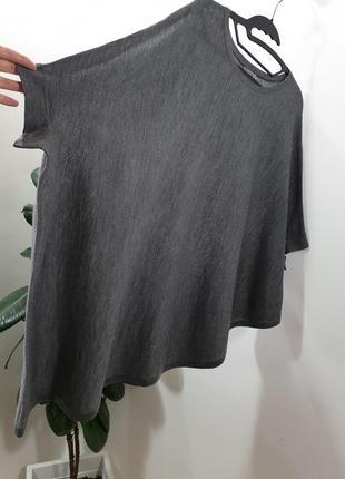 Асимметричная шерстяная футболка топ оверсайз cos