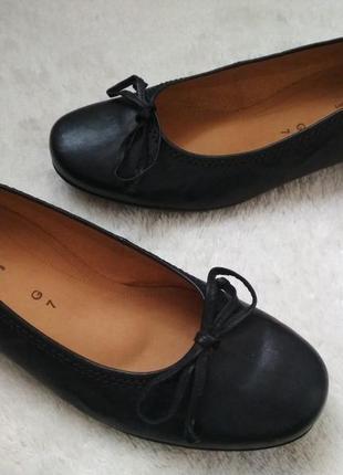 Мега удобные кожаные туфли, мокасины, балетки 40-41р gabor g